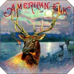 American Elk cigar label artwork.