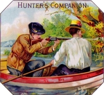 Hunters Companion cigar label artwork.