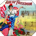 Air of Freedom Cigar Label