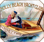 Holly Beach Yacht Club Cigar Label