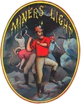 Miners Light Cigar Label