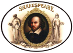 Shakespeare Cigar Label