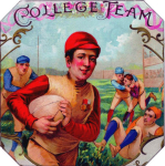 College Team Cigar Label