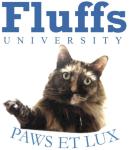 Fluffs - Blue Text