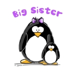 A fun sibling design by JGoode, Big Sister penguin. Penguin themed t-shirts and more for big sisters.