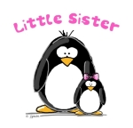 A fun sibling design by JGoode, Little Sister penguin. Penguin themed t-shirts and more for little sisters.