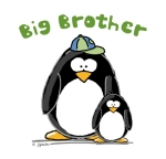 A fun sibling design by JGoode, Big Brother penguin. Penguin themed t-shirts and more for big brothers.