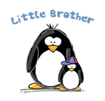 A fun sibling design by JGoode, Little Brother penguin. Penguin themed t-shirts and more for little bothers.