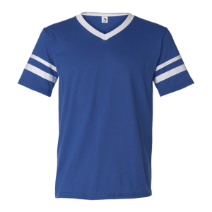 Augusta Sportswear V-Neck Jersey with Striped Sleeves (Unisex)
