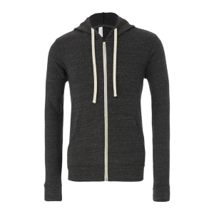 BELLA+CANVAS Tri-Blend Fleece Full-Zip Hoodie (Unisex)