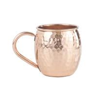 Hammered Copper Moscow Mule Cup (16 oz)