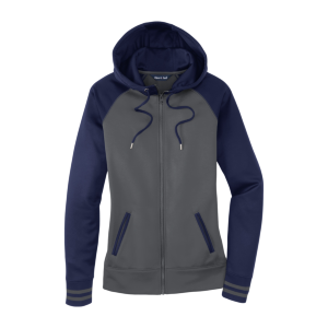 Sport-Tek® Ladies Sport-Wick® Varsity Fleece Full-Zip Hooded Jacket