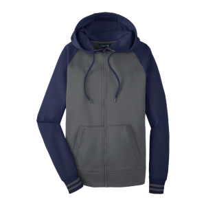 Sport-Tek® Men's Sport-Wick® Varsity Fleece Full-Zip Hooded Jacket