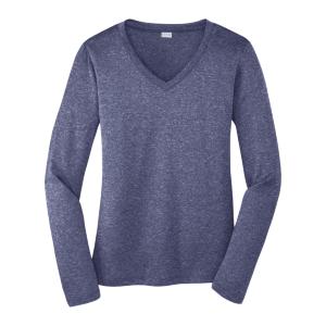 Sport-Tek® Women's Long Sleeve Contender™ V-Neck T-Shirt