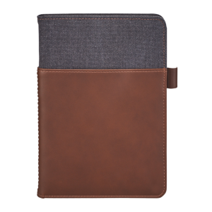"Alternative® Canvas Leather Wrap Bound Notebook (5"" x 8"")"