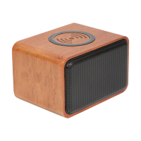 Wooden Bluetooth Speaker with Wireless Charging Pad