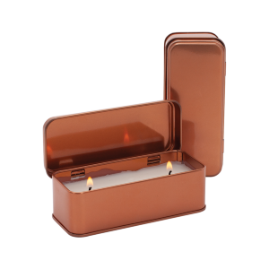 Scented Copper Rectangular Candle (5 oz)