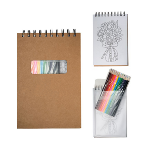 "Colored Pencil Notebook Set (5.5"" W x 8.25"" H)"