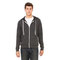 BELLA+CANVAS Tri-Blend Fleece Full-Zip Hoodie (Unisex)