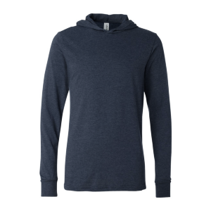 BELLA+CANVAS Long Sleeve Jersey Hooded T-Shirt (Unisex)