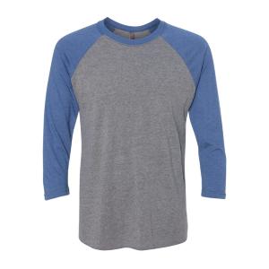 Next Level Tri-Blend 3/4 Raglan Sleeve Baseball T-Shirt (Unisex)