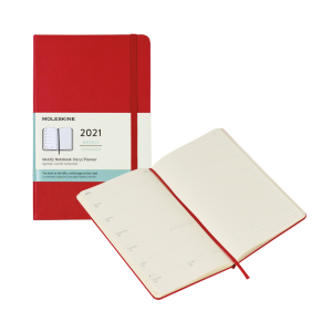 "Moleskine Hard Cover 2021 Diary/Planner (5"" x 8.25"")"
