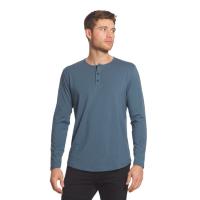 Cuts Clothing Curve-Hem Long-Sleeve Henley (Unisex)