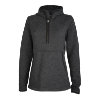 Charles River Apparel Heathered Fleece 1/4-Zip Hoodie (Women's)