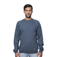 Royal Apparel Organic Cotton Raglan Crewneck Sweatshirt (Unisex)