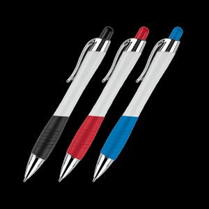 Two-Tone Color Curvaceous Ballpoint Pen