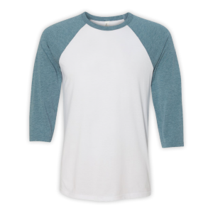 Bella + Canvas Unisex 3/4 Sleeve Baseball Tee