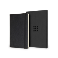 Moleskine® Leather Ruled Large Notebook  (5″ x 8.25″)