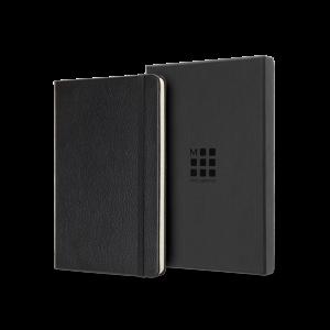 Moleskine® Leather Ruled Large Notebook  (5″ x 8.25″)
