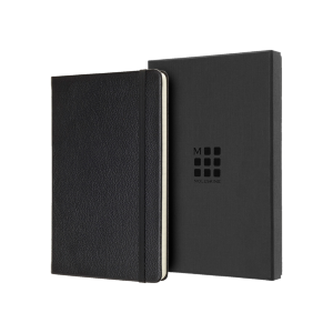 Moleskine Leather Ruled Large Notebook  (5″ x 8.25″)