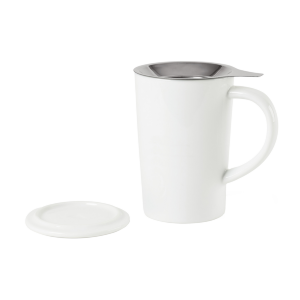 Lotus Porcelain Tea Infuser Mug (15 oz)