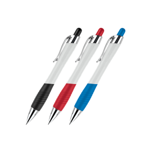 Two-Tone Color Curvaceous Ballpoint Pen