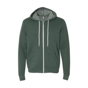 BELLA+CANVAS Poly-Cotton Fleece Full-Zip Hoodie (Unisex)