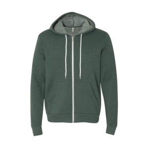 Bella + Canvas Unisex Poly-Cotton Fleece Full-Zip Hoodie