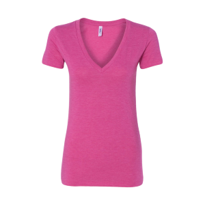Bella + Canvas Women's Tri-Blend Deep V-Neck Short Sleeve T-Shirt