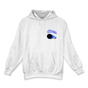 This astronomer hooded sweatshirt pocket emblem is perfect for the astronomer who prefers to do his stargazing with a refractor. It says: Astronomer, and has a depiction of a refractor telescope.