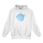 Shark Ball Blue Hooded Sweatshirt