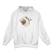 Shark Ball White Hooded Sweatshirt