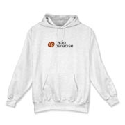 Hooded Sweatshirt, logo front only, White or Gray