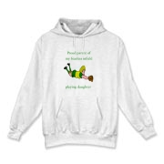 Proud of Infielder Daughter Hooded Sweatshirt