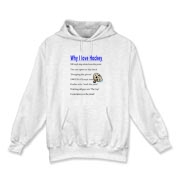 Why I Love Hockey Hooded Sweatshirt
