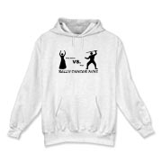 belly dancer vs. ninja Hooded Sweatshirt