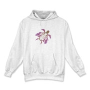 Winged Turtle - Purple Hooded Sweatshirt