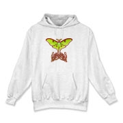 Celtic Lunar Moth Hooded Sweatshirt