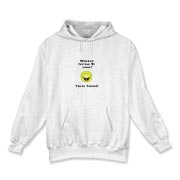 This zany Linux hooded sweatshirt shows a smiley face laughing emphatically at the prospect that someone uses Windows instead of open source Linux. The caption says: Windows Instead Of Linux? You're Kidding!