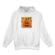 This hoodie is great for fall and the Halloween season and is available in white, gray and sport gray.